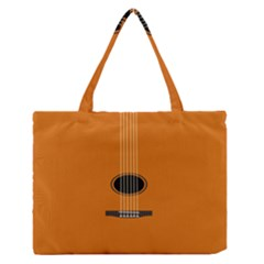 Minimalism Art Simple Guitar Medium Zipper Tote Bag by Mariart