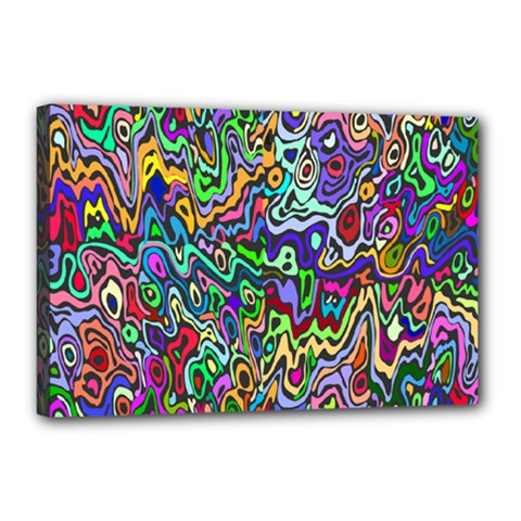 Colorful Abstract Paint Rainbow Canvas 18  X 12  by Mariart