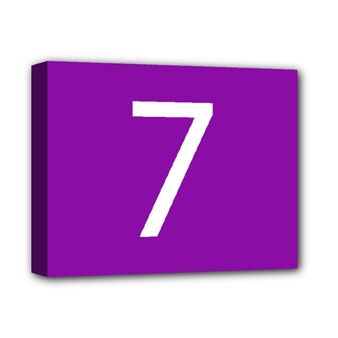 Number 7 Purple Deluxe Canvas 14  X 11  by Mariart