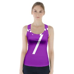 Number 7 Purple Racer Back Sports Top