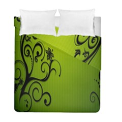 Illustration Wallpaper Barbusak Leaf Green Duvet Cover Double Side (full/ Double Size) by Mariart