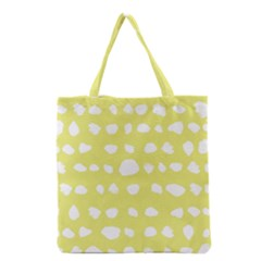 Polkadot White Yellow Grocery Tote Bag by Mariart