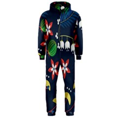Origami Flower Floral Star Leaf Hooded Jumpsuit (men)  by Mariart