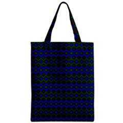 Split Diamond Blue Green Woven Fabric Zipper Classic Tote Bag by Mariart
