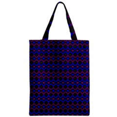 Split Diamond Blue Purple Woven Fabric Zipper Classic Tote Bag by Mariart