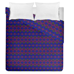 Split Diamond Blue Purple Woven Fabric Duvet Cover Double Side (queen Size) by Mariart