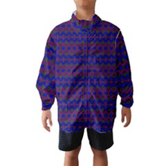 Split Diamond Blue Purple Woven Fabric Wind Breaker (kids) by Mariart