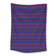 Split Diamond Blue Purple Woven Fabric Medium Tapestry by Mariart