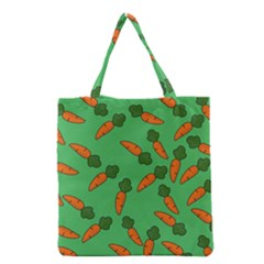 Carrot Pattern Grocery Tote Bag by Valentinaart