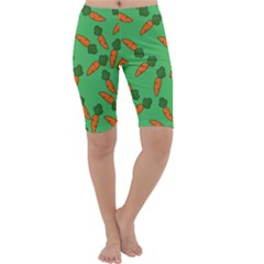 Carrot Pattern Cropped Leggings