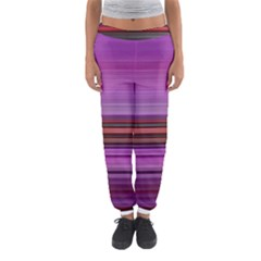 Stripes Line Red Purple Women s Jogger Sweatpants by Mariart