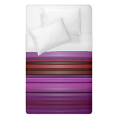 Stripes Line Red Purple Duvet Cover (single Size)