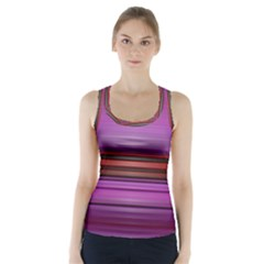 Stripes Line Red Purple Racer Back Sports Top