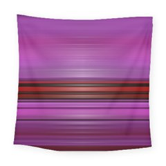 Stripes Line Red Purple Square Tapestry (large)