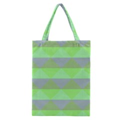 Squares Triangel Green Yellow Blue Classic Tote Bag