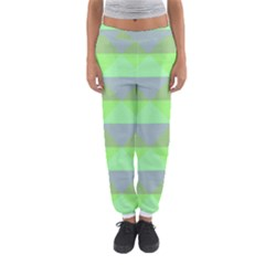 Squares Triangel Green Yellow Blue Women s Jogger Sweatpants by Mariart