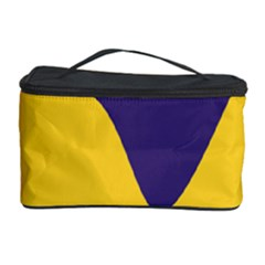 Purple Yellow Wave Cosmetic Storage Case by Mariart