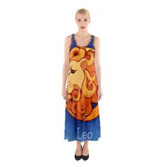 Zodiac Leo Sleeveless Maxi Dress by Mariart