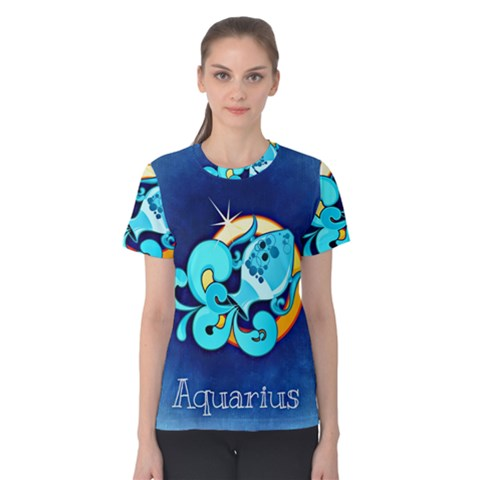 Zodiac Aquarius Women s Cotton Tee by Mariart