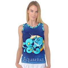 Zodiac Aquarius Women s Basketball Tank Top by Mariart