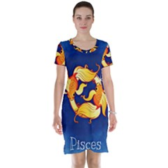 Zodiac Pisces Short Sleeve Nightdress by Mariart