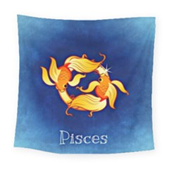 Zodiac Pisces Square Tapestry (large) by Mariart