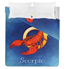 Zodiac Scorpio Duvet Cover Double Side (queen Size) by Mariart