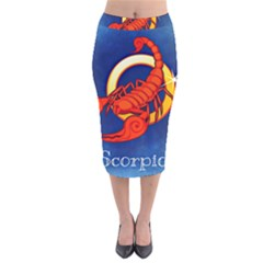 Zodiac Scorpio Velvet Midi Pencil Skirt by Mariart