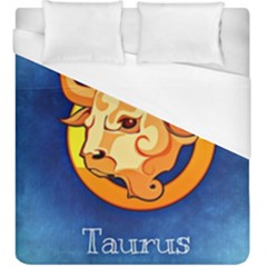 Zodiac Taurus Duvet Cover (king Size) by Mariart