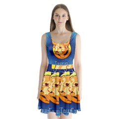 Zodiac Taurus Split Back Mini Dress