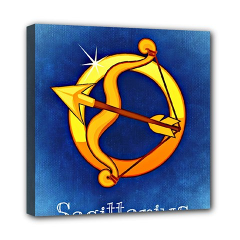 Zodiac Sagittarius Mini Canvas 8  X 8  by Mariart