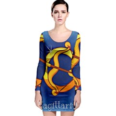 Zodiac Sagittarius Long Sleeve Bodycon Dress by Mariart