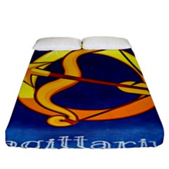 Zodiac Sagittarius Fitted Sheet (king Size) by Mariart