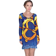 Zodiac Sagittarius Long Sleeve Nightdress by Mariart
