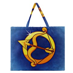 Zodiac Sagittarius Zipper Large Tote Bag by Mariart