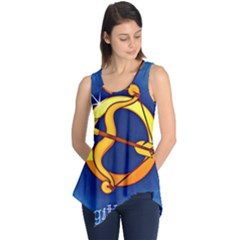 Zodiac Sagittarius Sleeveless Tunic by Mariart