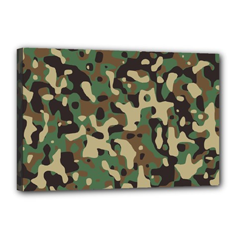 Army Camouflage Canvas 18  X 12  by Mariart
