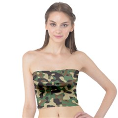 Army Camouflage Tube Top by Mariart