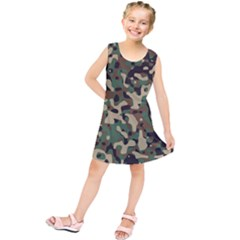 Army Camouflage Kids  Tunic Dress by Mariart