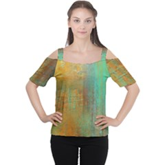 The Waterfall Women s Cutout Shoulder Tee by digitaldivadesigns
