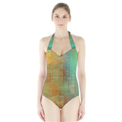 The Waterfall Halter Swimsuit by digitaldivadesigns