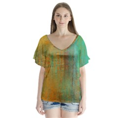 The Waterfall Flutter Sleeve Top by digitaldivadesigns