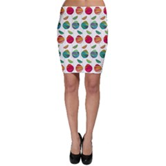 Watercolor Floral Roses Pattern Bodycon Skirt