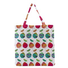 Watercolor Floral Roses Pattern Grocery Tote Bag