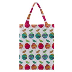 Watercolor Floral Roses Pattern Classic Tote Bag