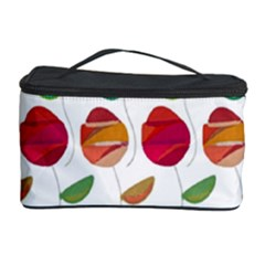 Watercolor Floral Roses Pattern Cosmetic Storage Case by Nexatart