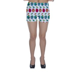 Watercolor Floral Roses Pattern Skinny Shorts