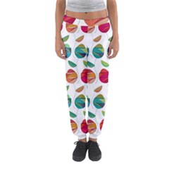 Watercolor Floral Roses Pattern Women s Jogger Sweatpants