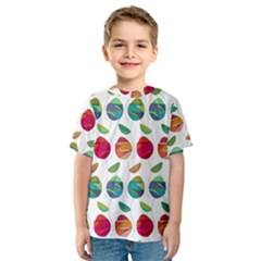 Watercolor Floral Roses Pattern Kids  Sport Mesh Tee by Nexatart