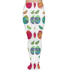 Watercolor Floral Roses Pattern Women s Tights